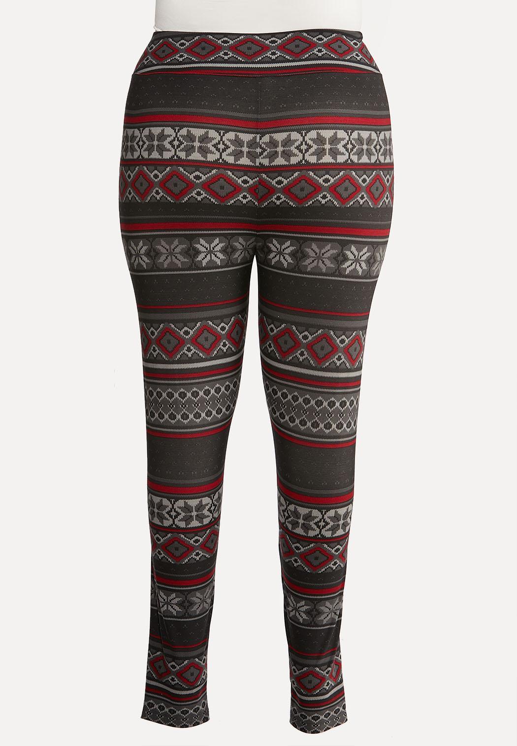 Plus Size Festive Knit Leggings (Item #44032052)