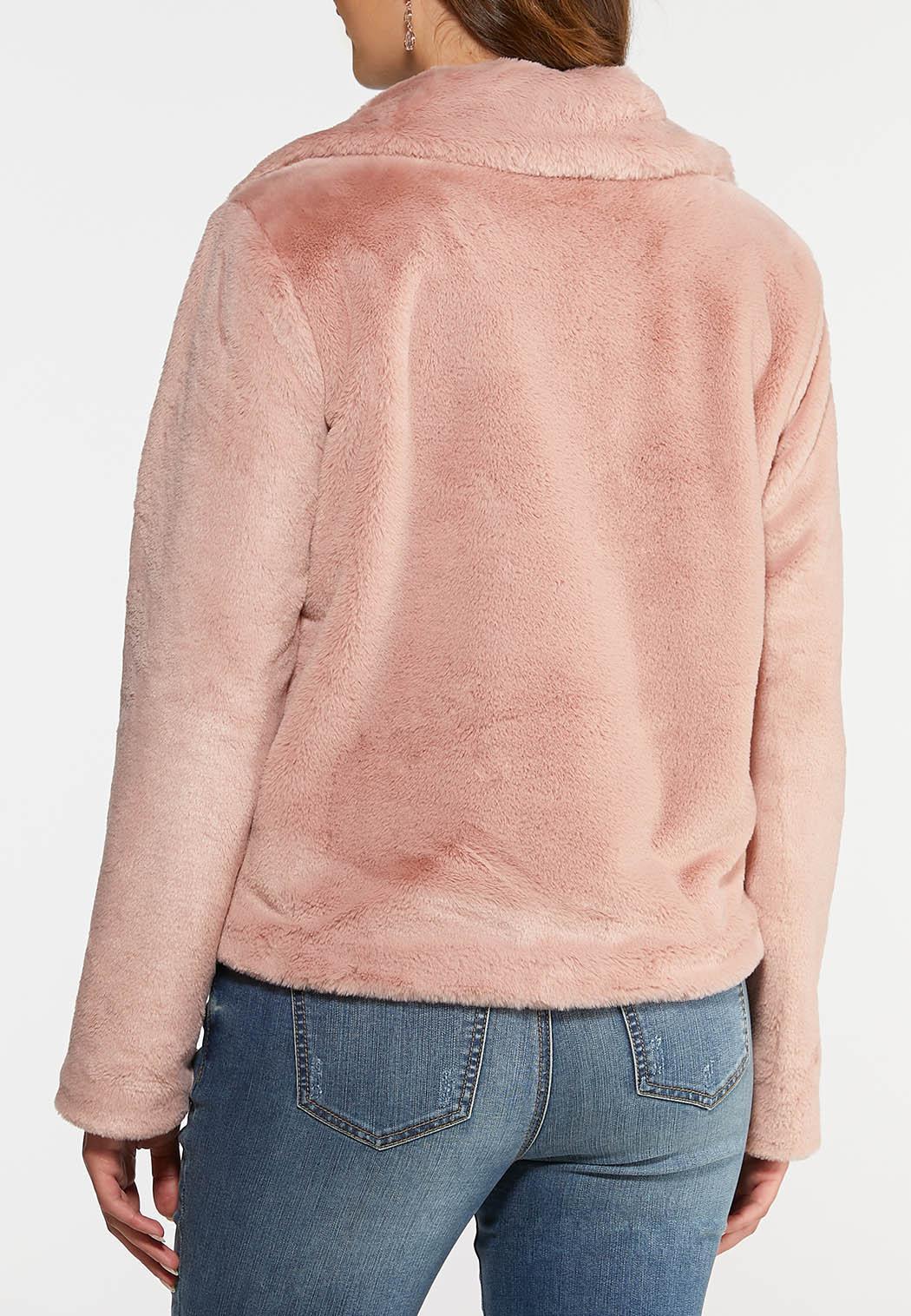 Blush Faux Fur Jacket (Item #44032132)