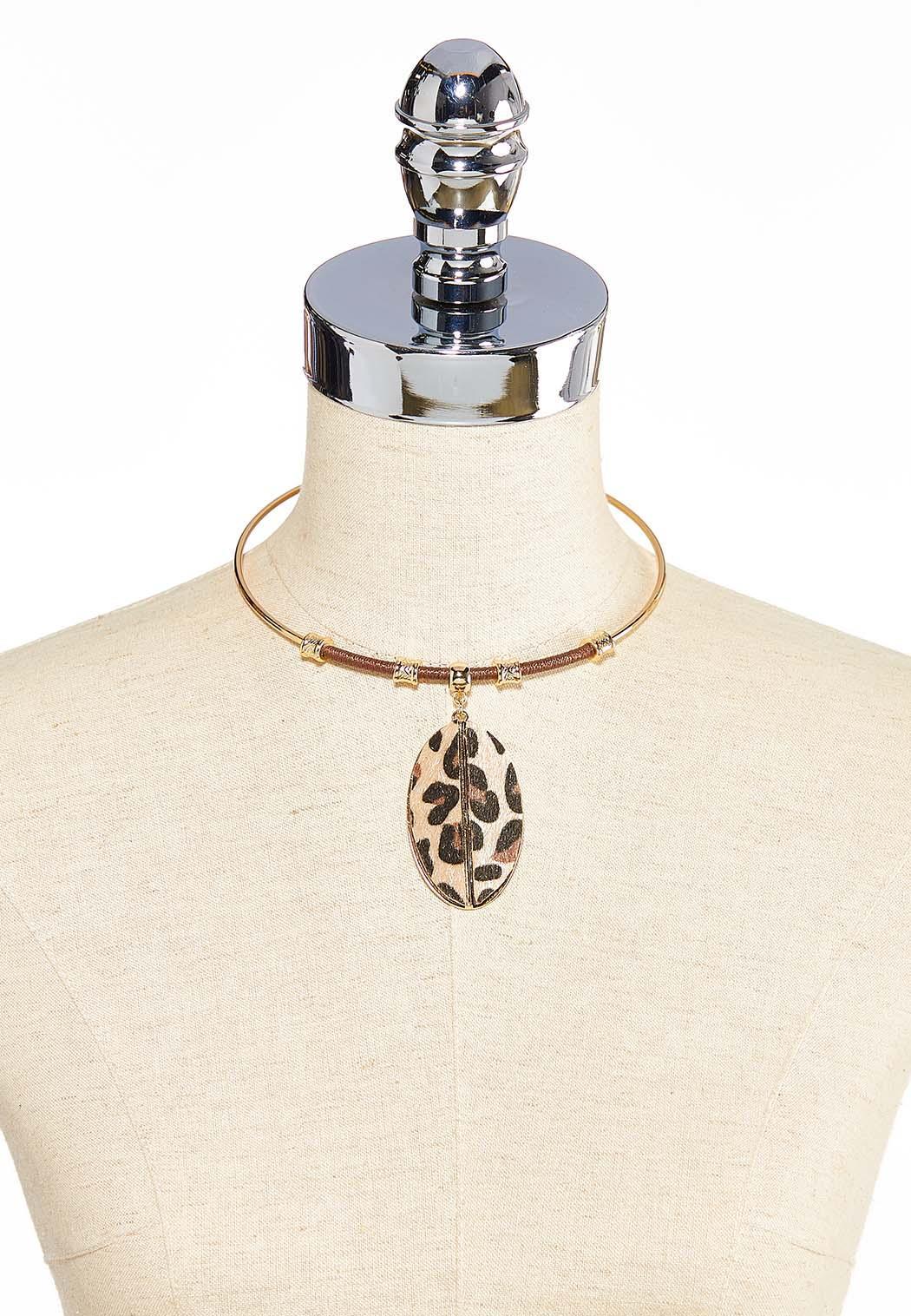 Leopard Pendant Wire Necklace (Item #44032408)