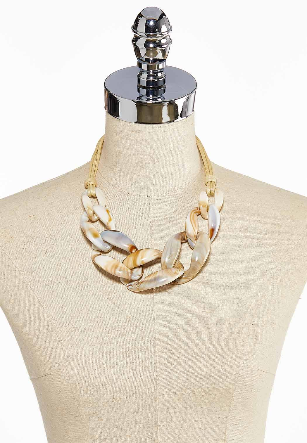 Chunky Resin Link Necklace (Item #44032440)