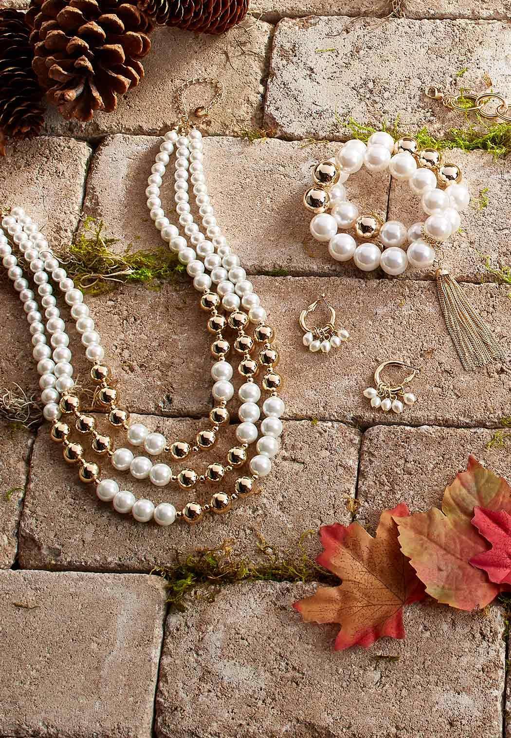 Small Pearl Hoop Earrings (Item #44034119)