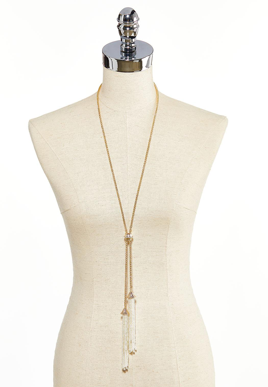 Pearl Tassel Necklace (Item #44034136)