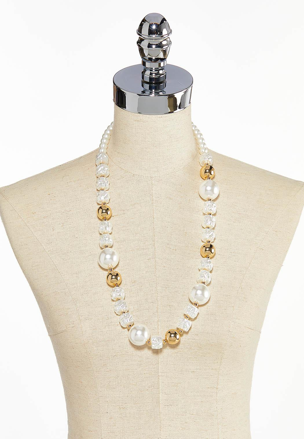 Ivory And Gold Necklace (Item #44034140)
