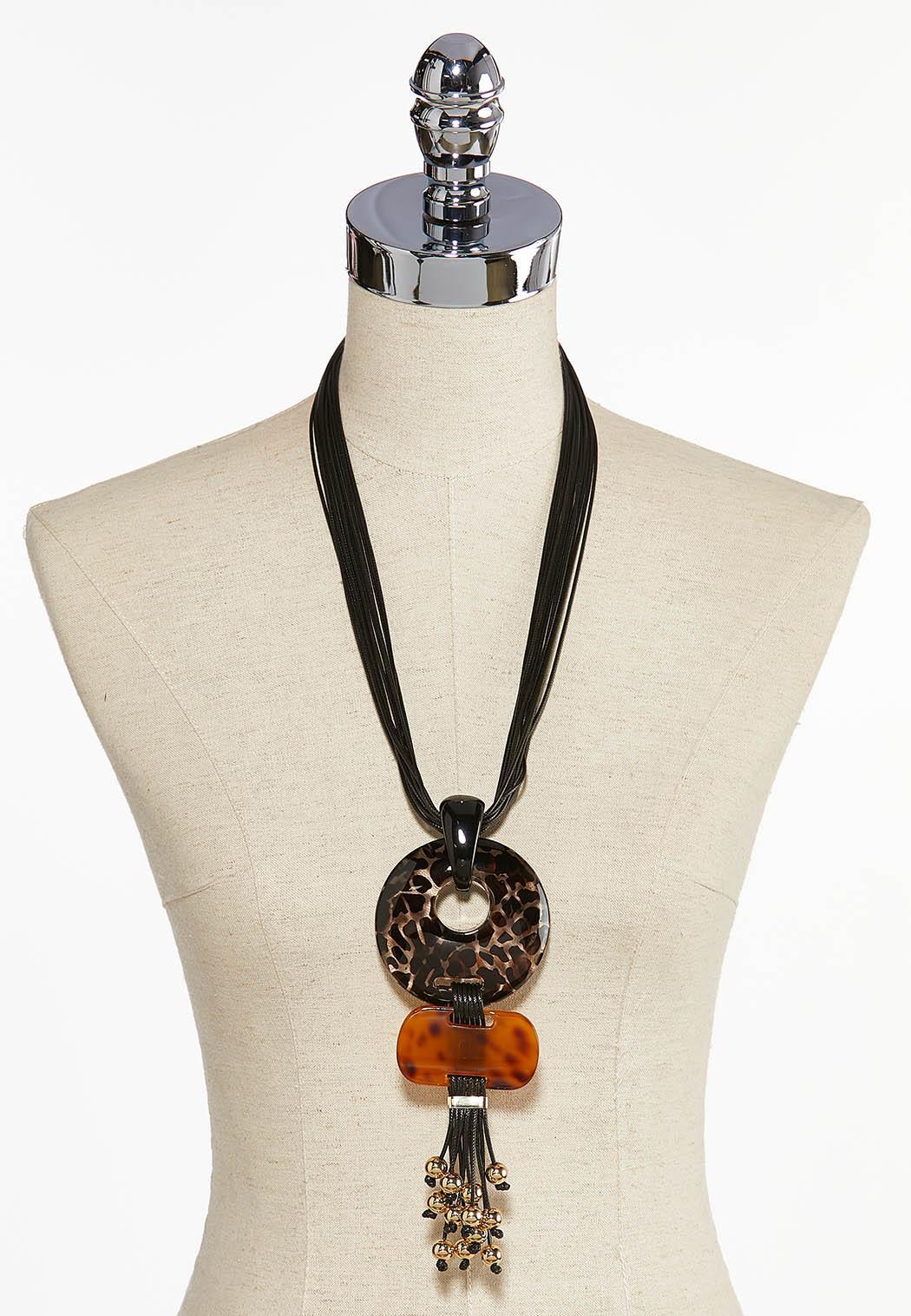 Animal Pendant Cord Necklace (Item #44034235)