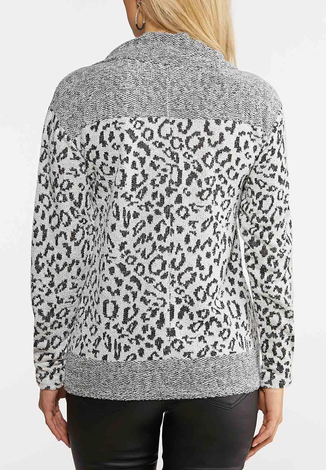 Leopard Cowl Neck Top (Item #44034651)