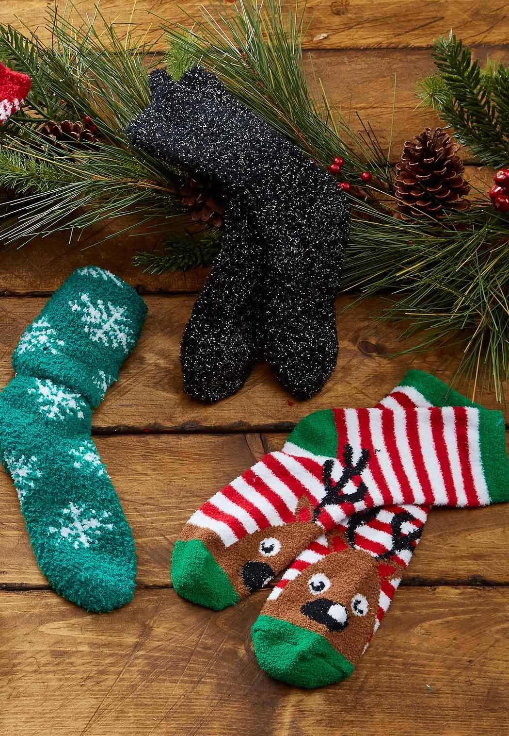 Reindeer Striped Socks (Item #44035535)