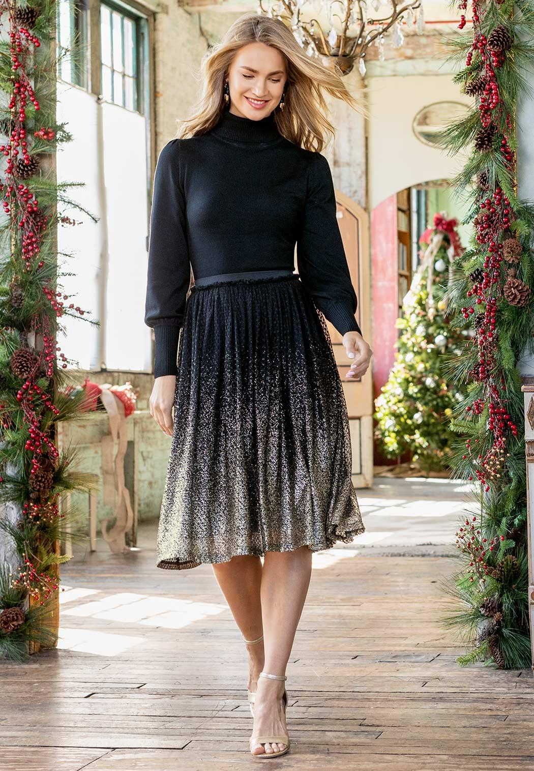 Glitter Ombre Party Skirt (Item #44036913)
