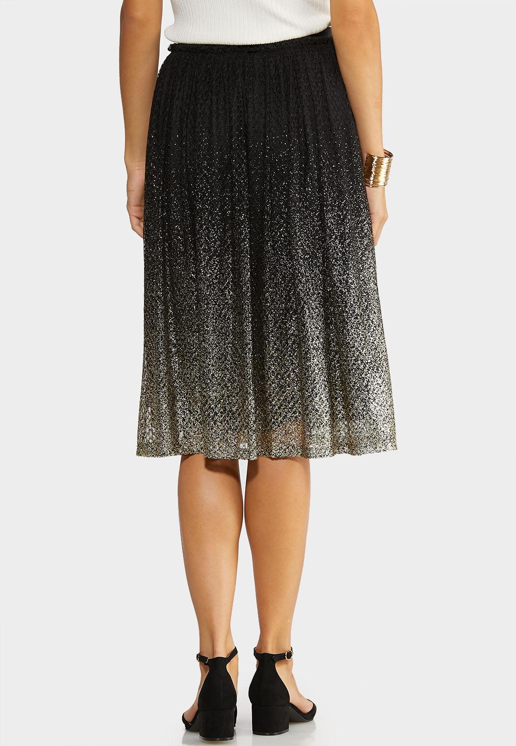 Plus Size Glitter Ombre Party Skirt (Item #44036923)