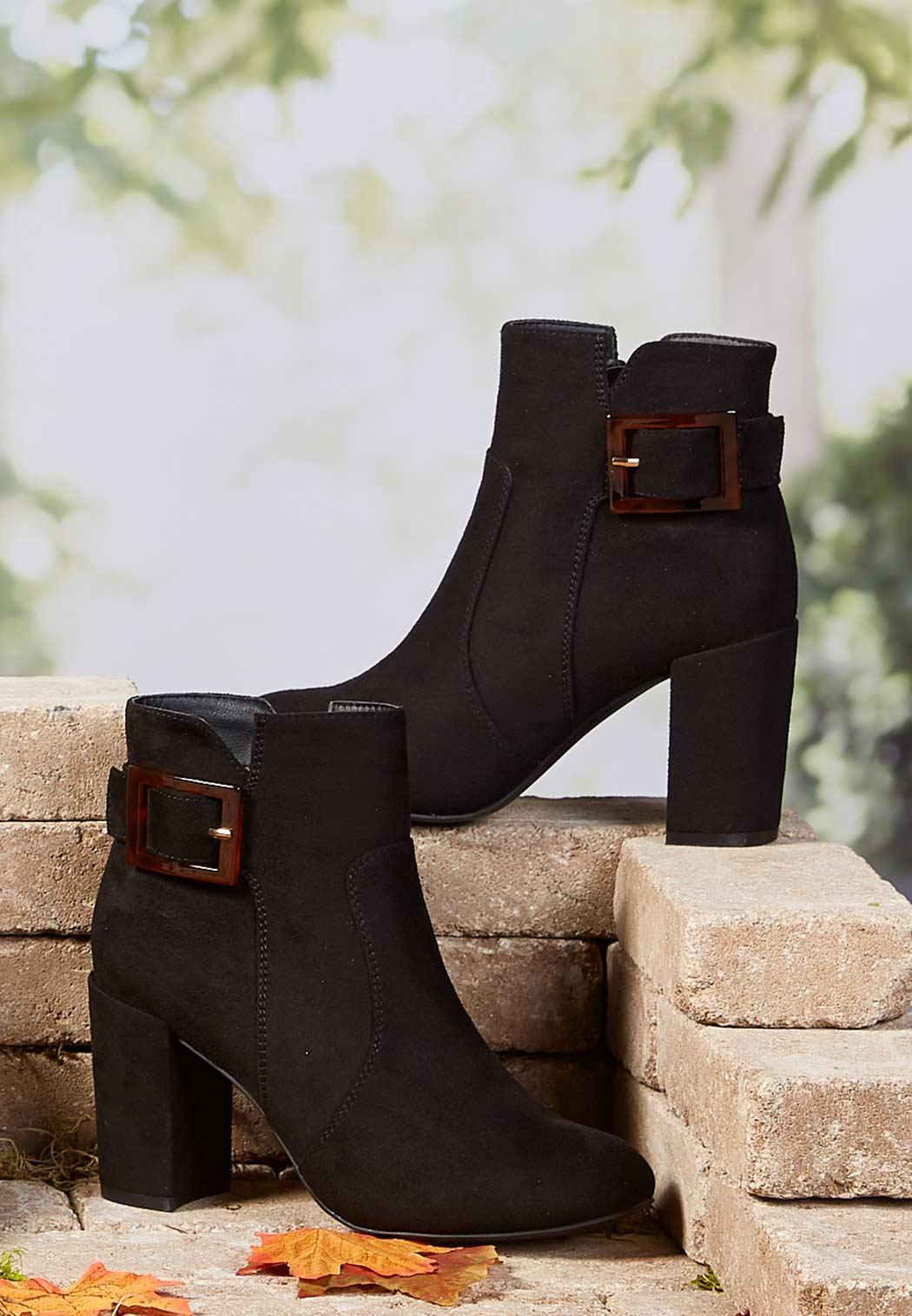 Tort Buckle Ankle Boots (Item #44037060)