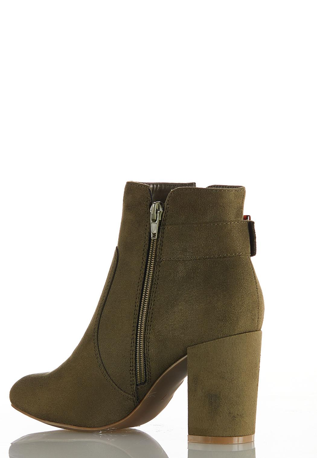 Wide Width Tort Buckle Ankle Boots (Item #44037088)