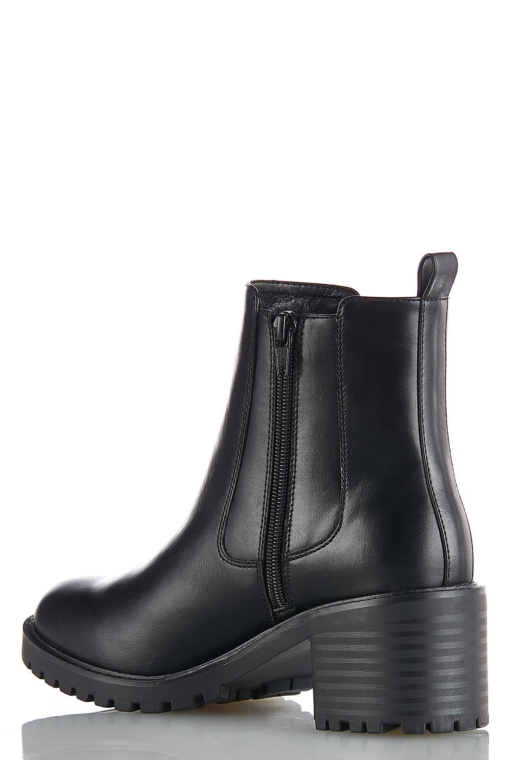 Wide Width Stretch Gore Lug Boots (Item #44037149)