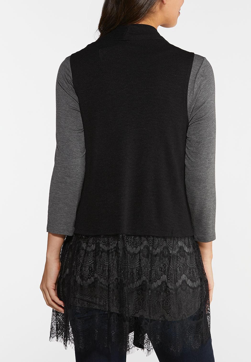 Lace Trim Knit Vest (Item #44037709)