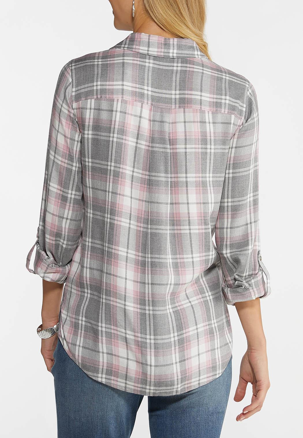Blush Plaid Shirt (Item #44038107)
