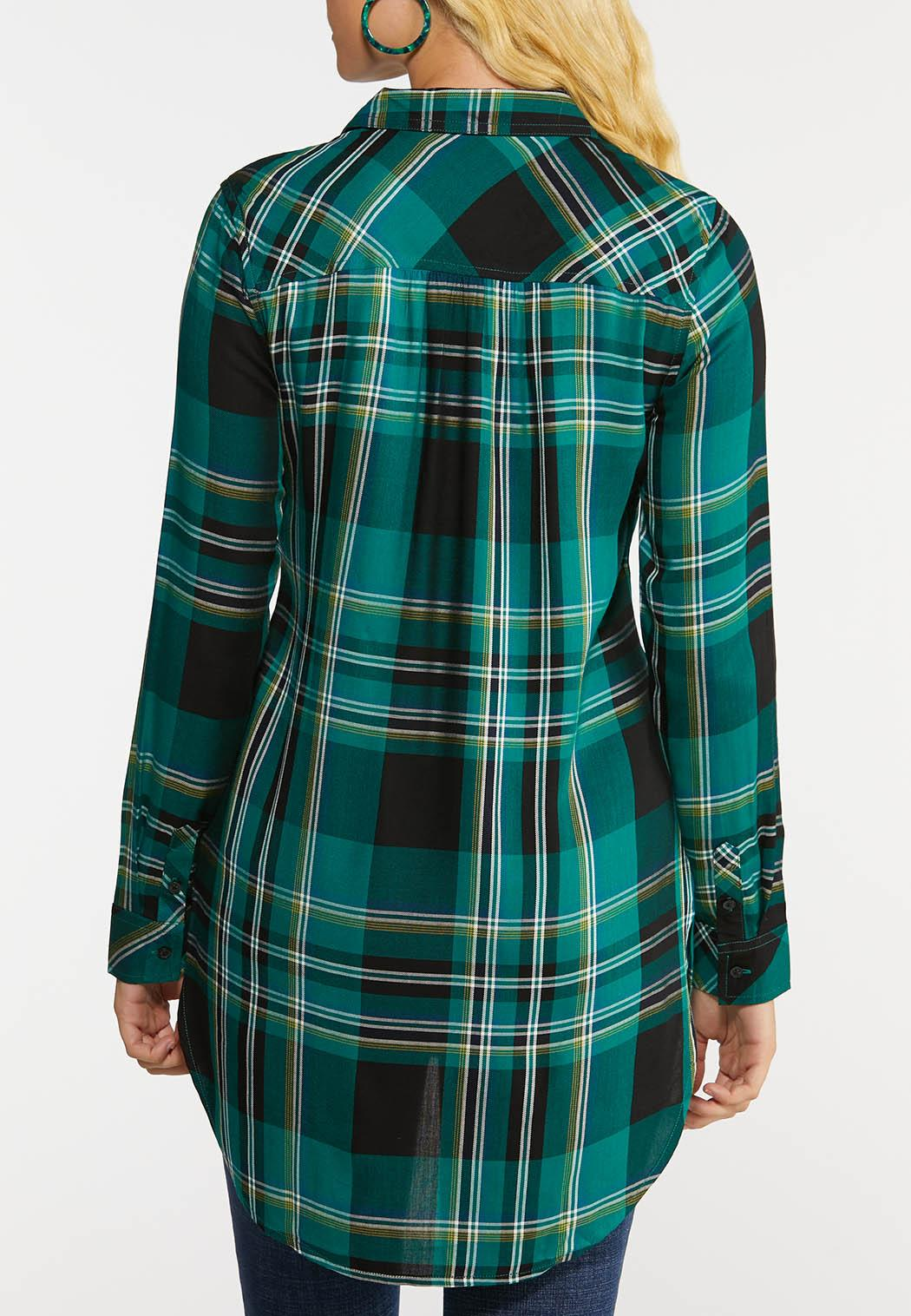 Plus Size Plaid Tunic Top (Item #44038622)