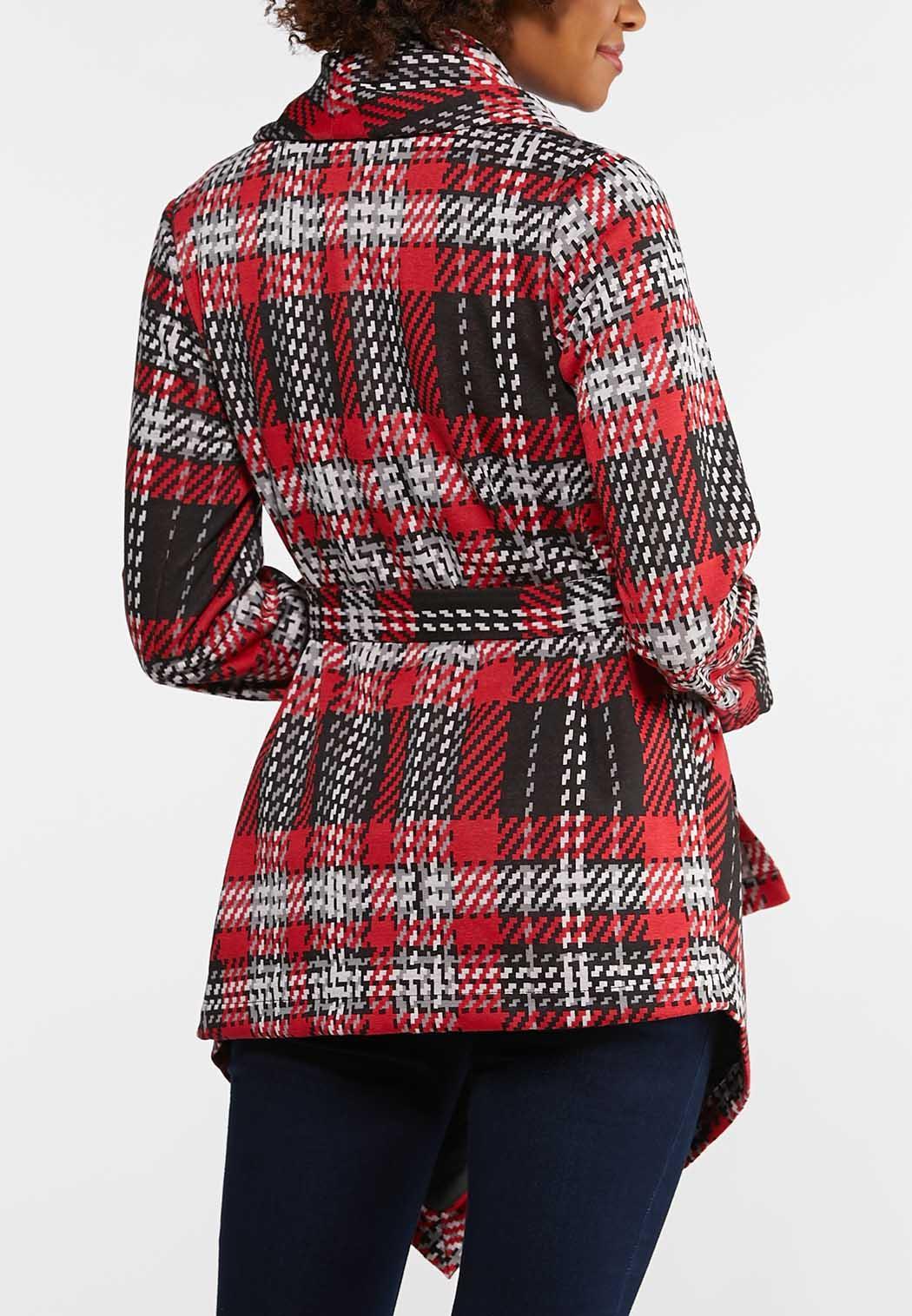 Plaid Belted Jacket (Item #44038986)