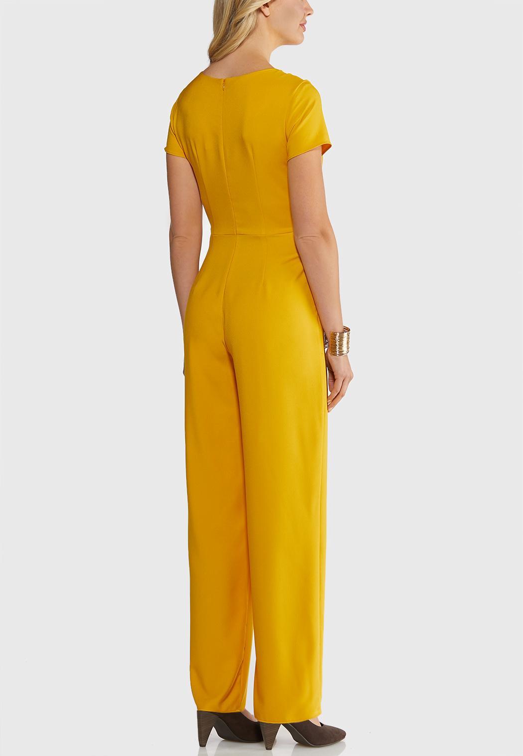 Petite Embellished Gold Jumpsuit (Item #44039506)
