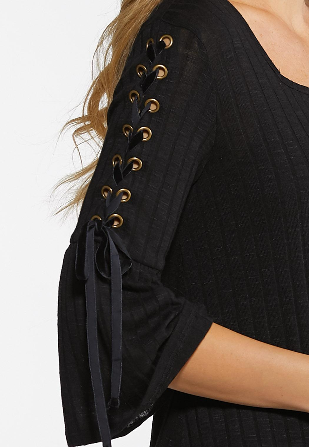 Lace Up Sleeve Top (Item #44040002)