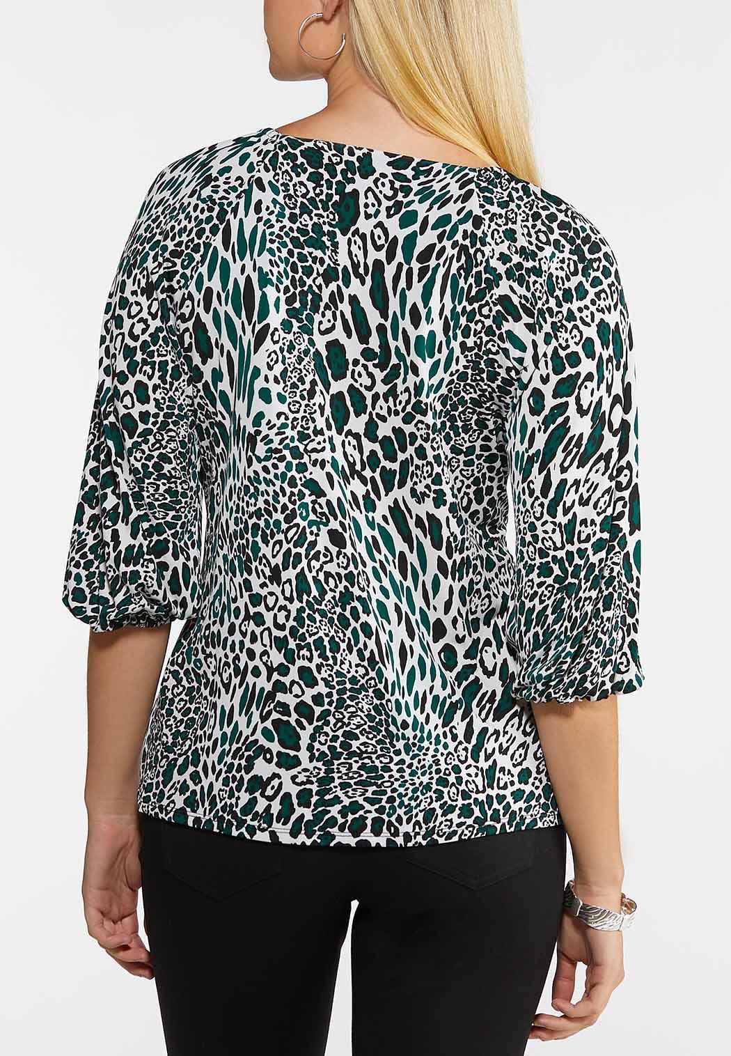 Green Leopard Top (Item #44041068)