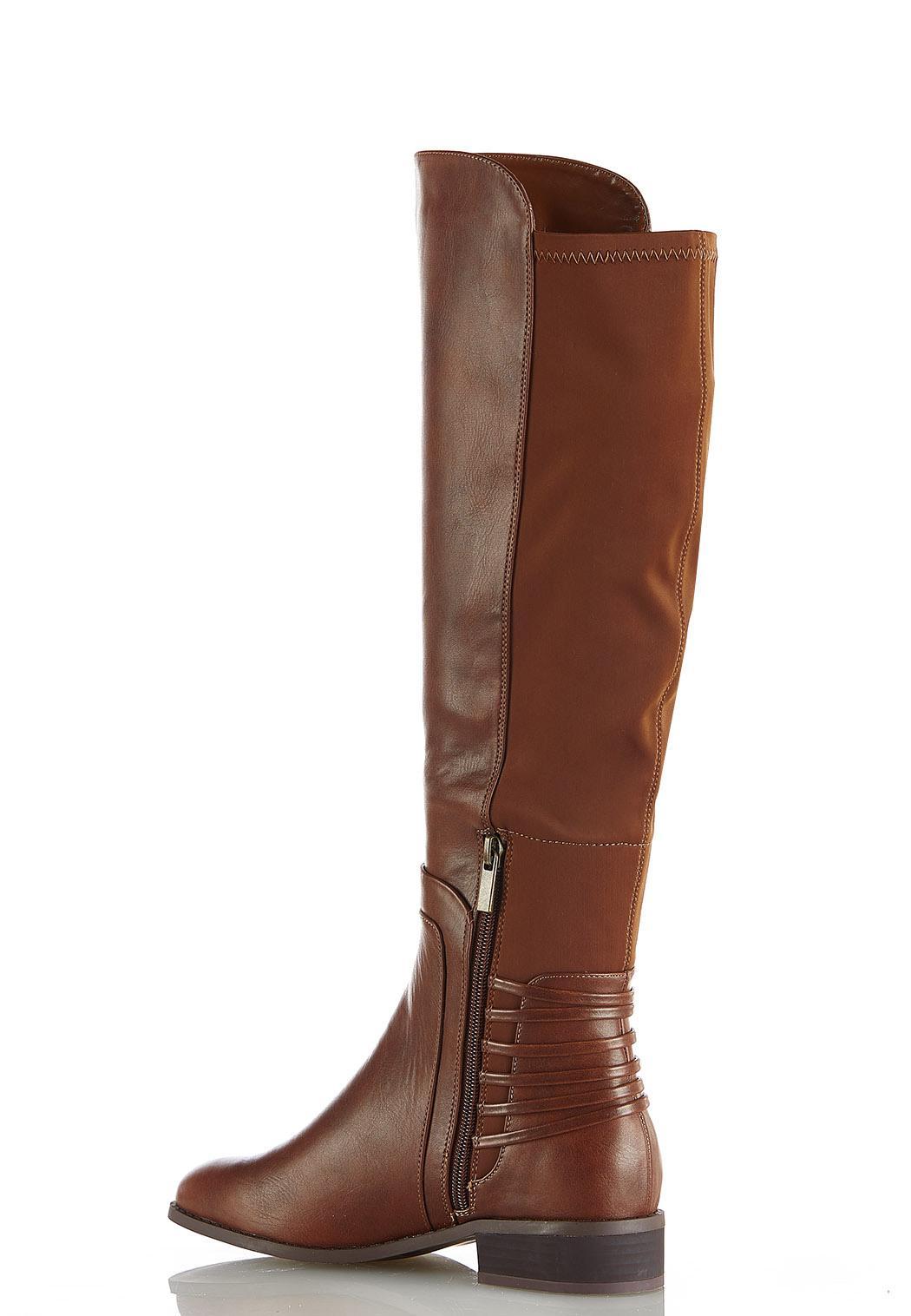 Wide Width Stretch Calf Riding Boots (Item #44041705)