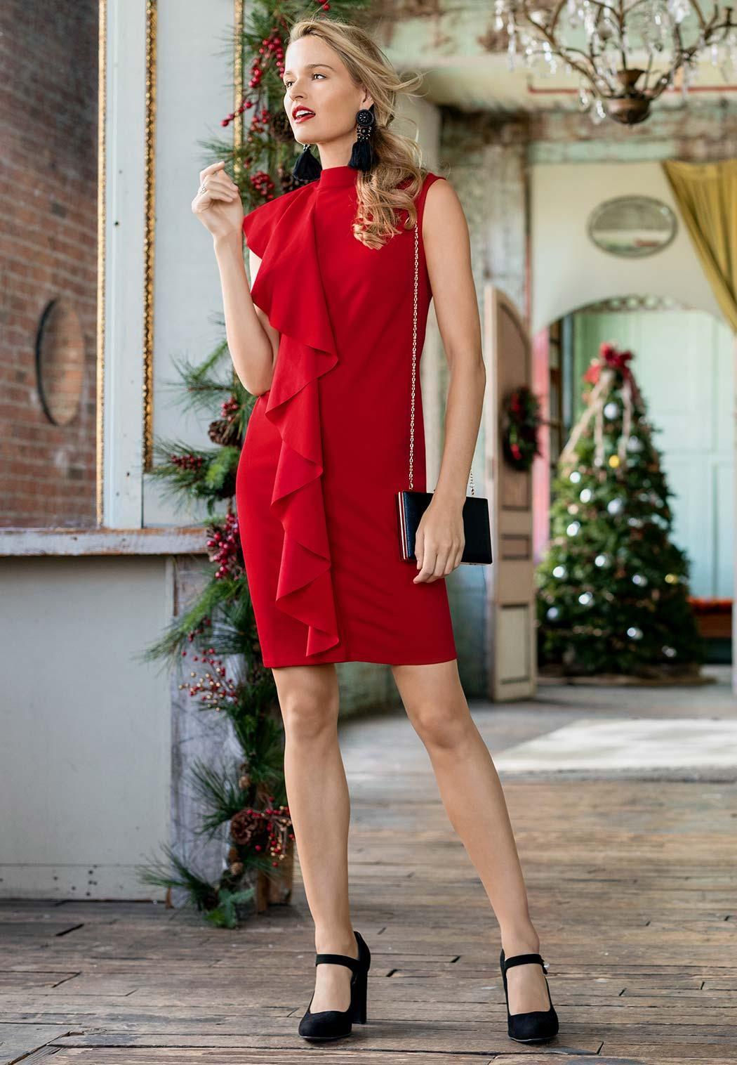 Ruffle Sheath Dress (Item #44041761)