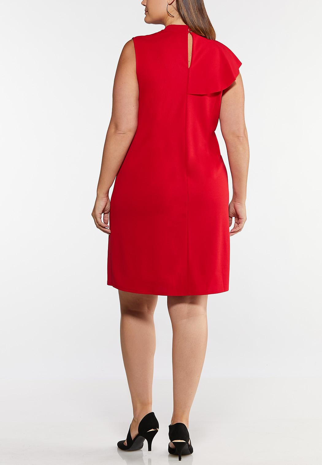Plus Size Ruffle Sheath Dress (Item #44041837)