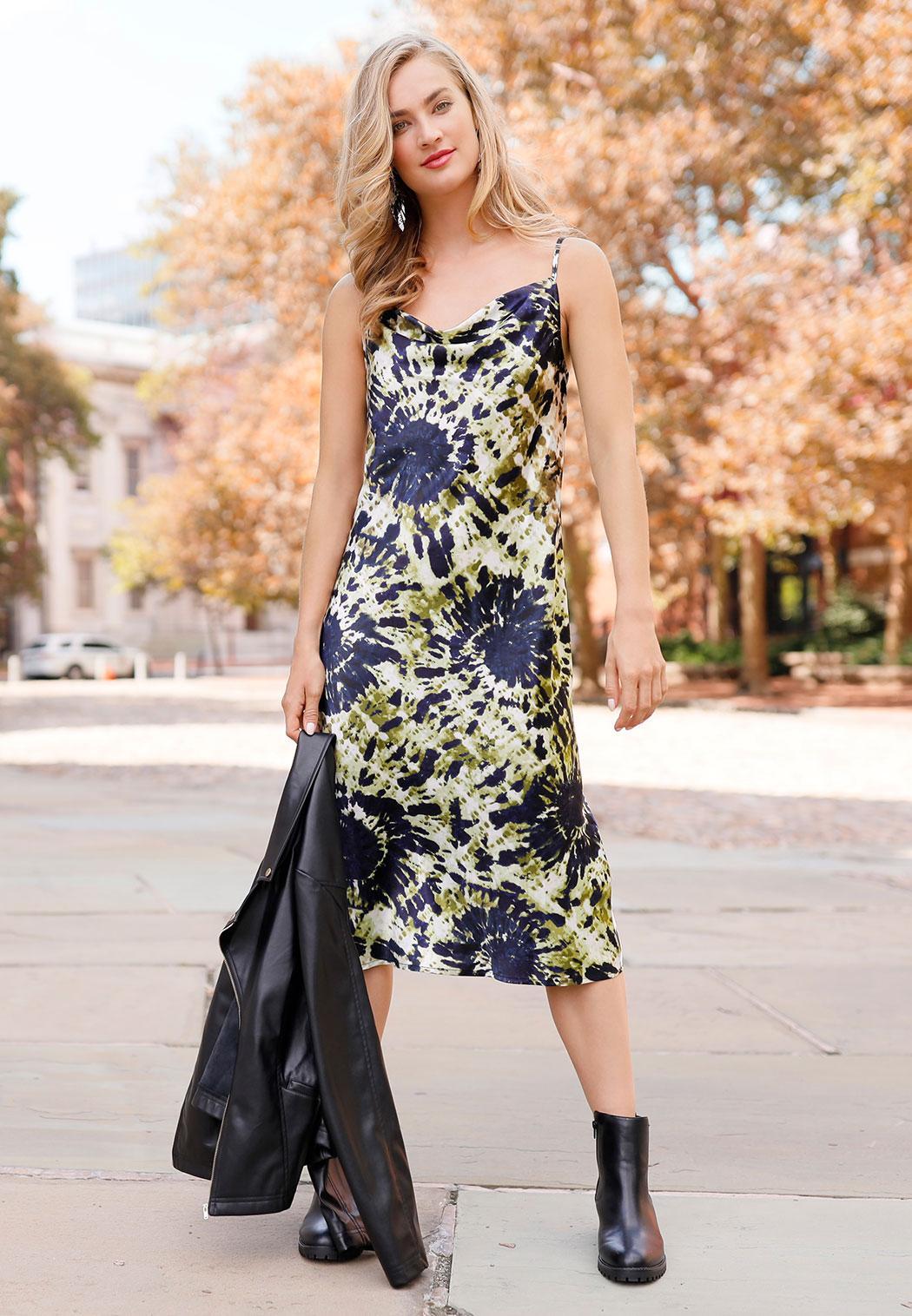 Tie Dye Slip Dress (Item #44042402)