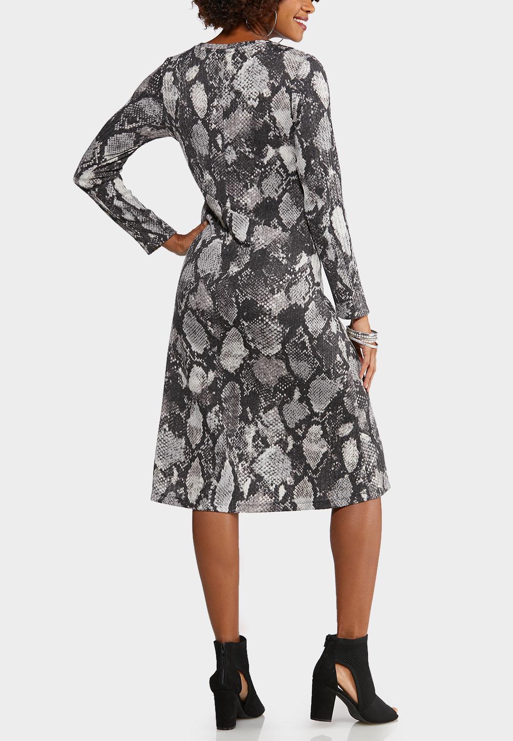 Plus Size Snake Midi Dress (Item #44042432)