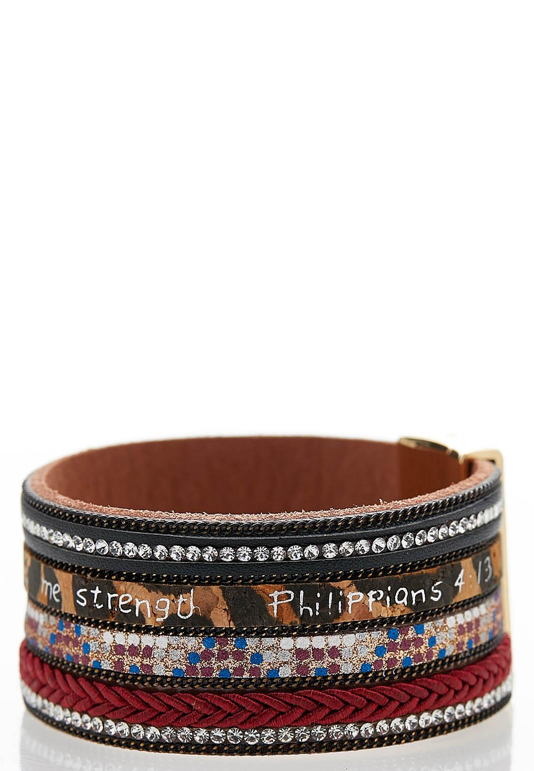 Inspirational Mixed Print Bracelet (Item #44043683)