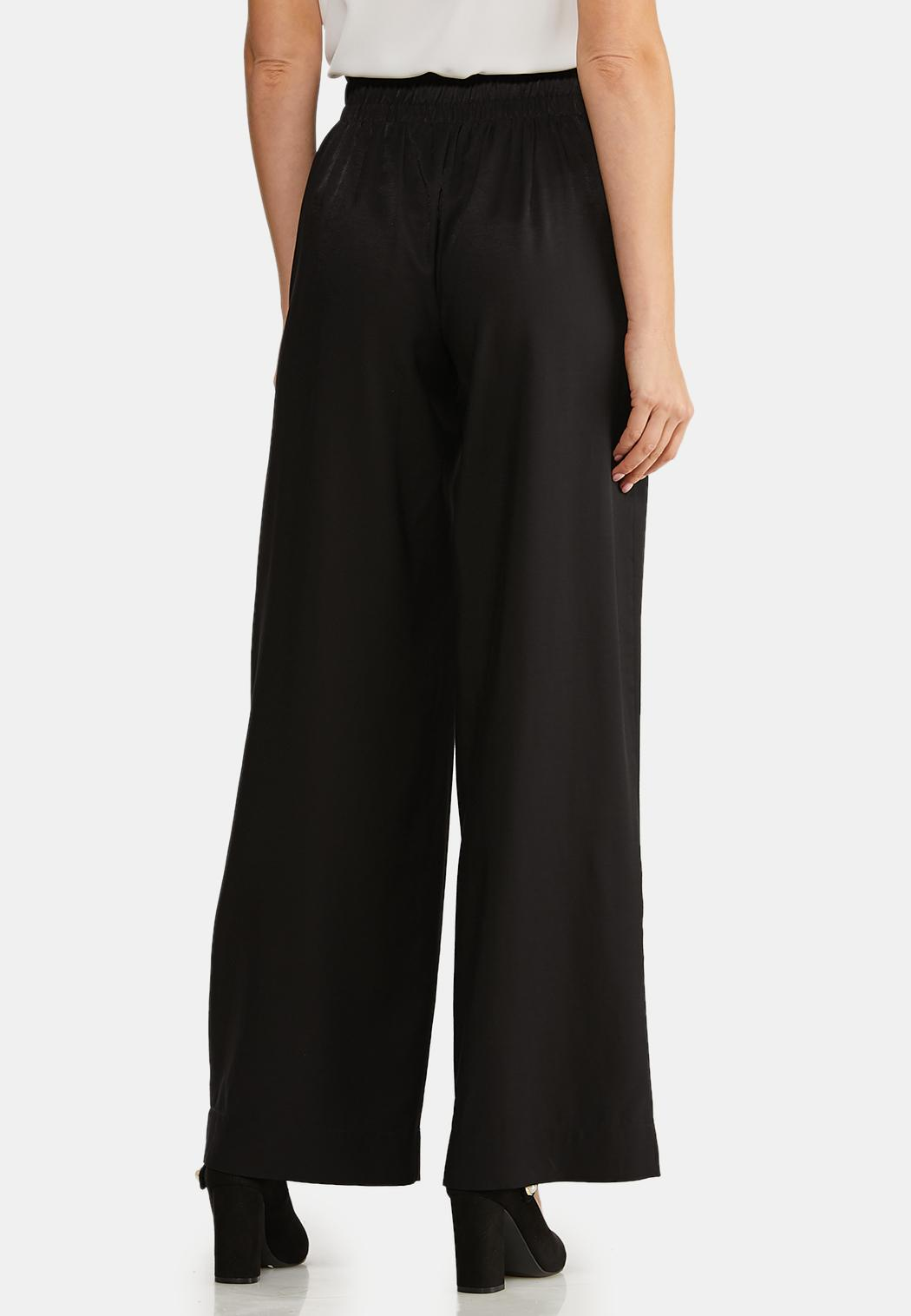 Plus Size Belted Wide Leg Pants (Item #44043857)