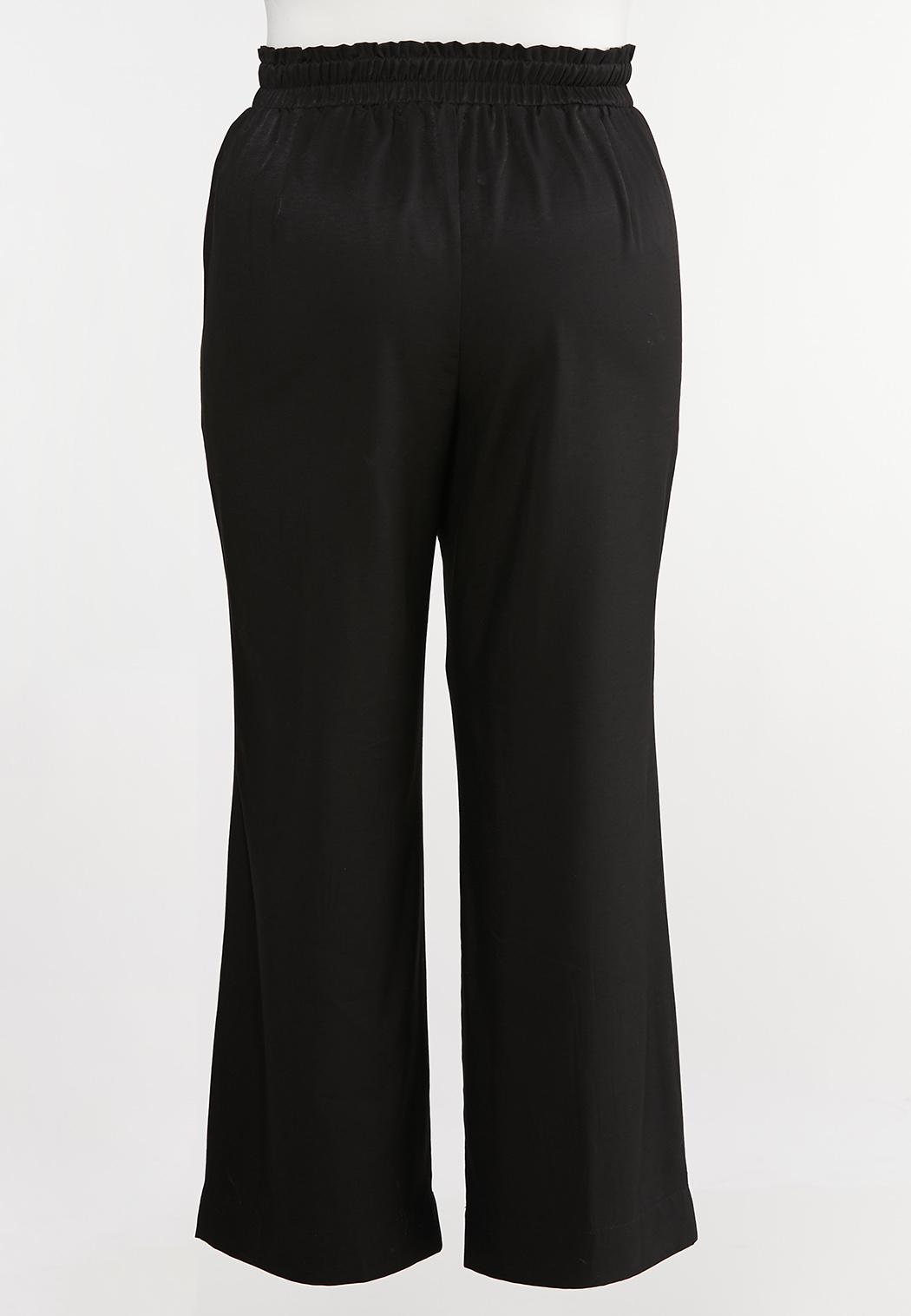 Plus Size Belted Wide Leg Pants (Item #44043945)