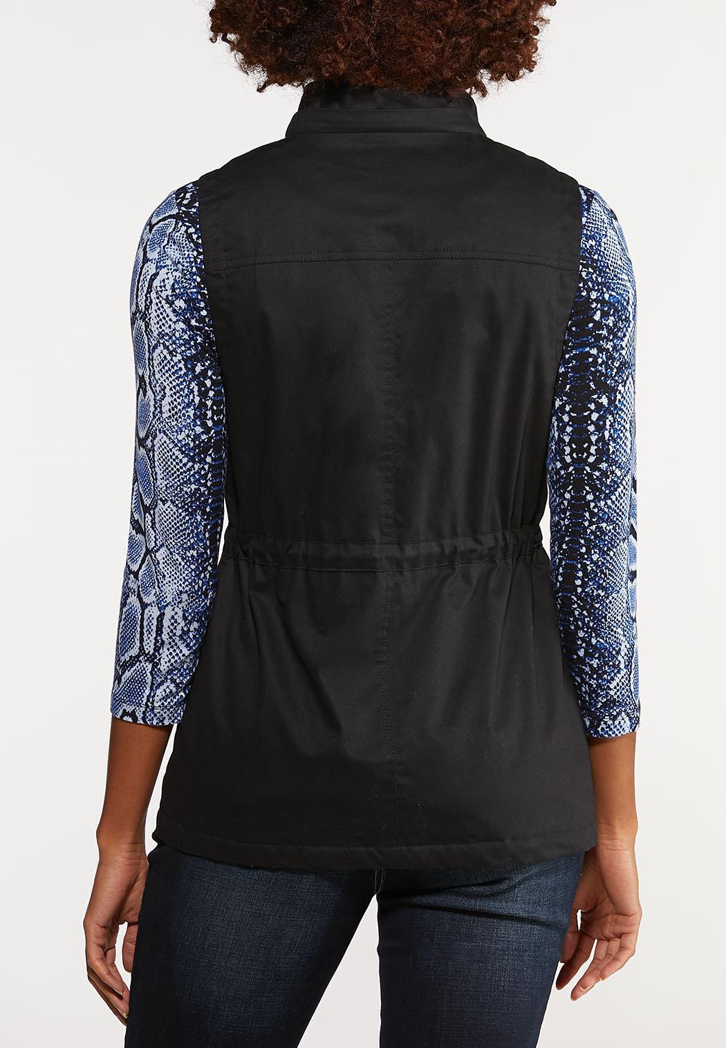 Plus Size Sherpa Lined Utility Vest (Item #44043961)