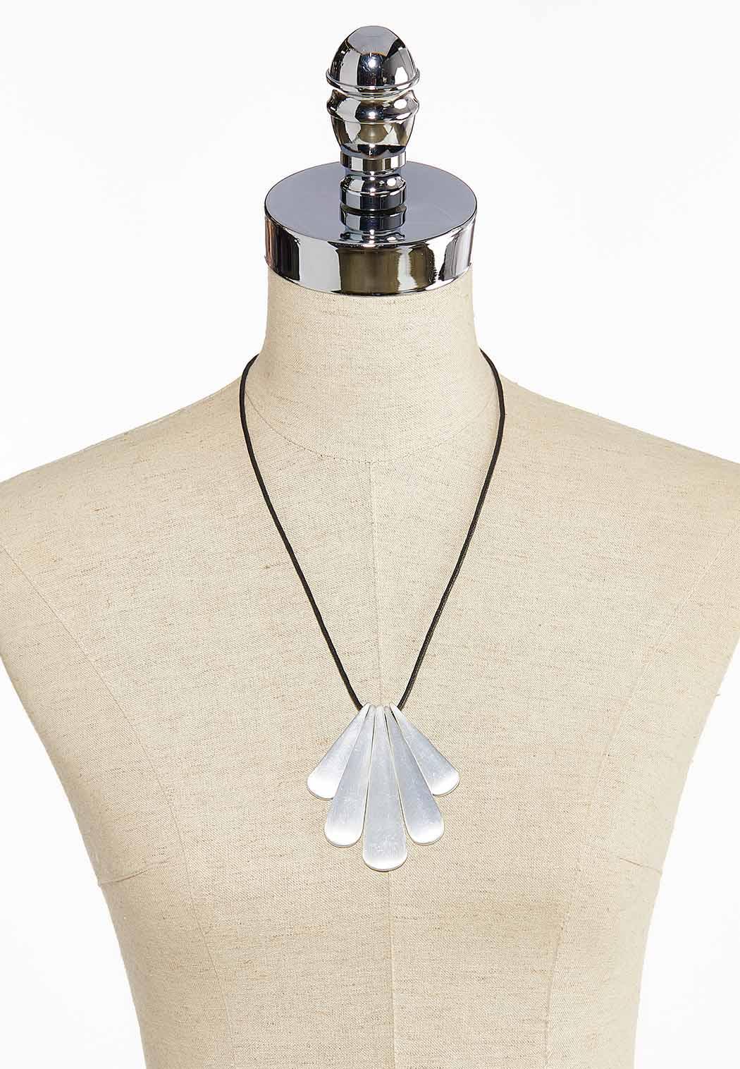 Mod Tear Pendant Cord Necklace (Item #44044012)