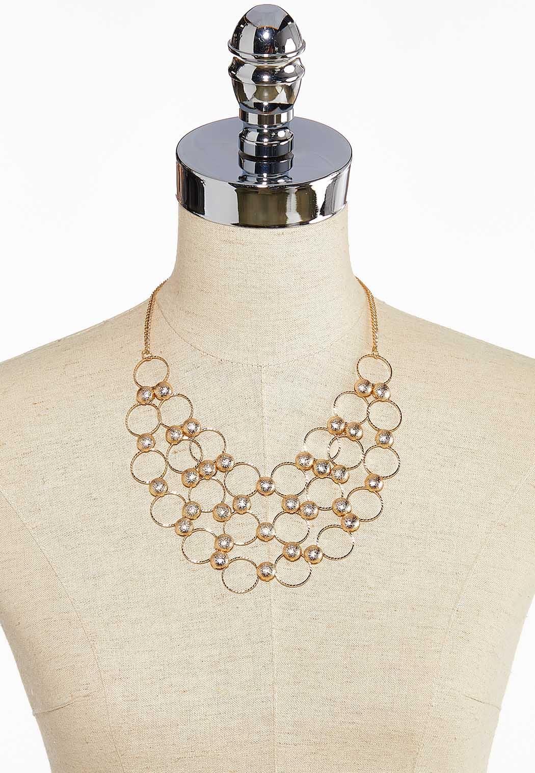 Circle And Dot Bib Necklace (Item #44044066)