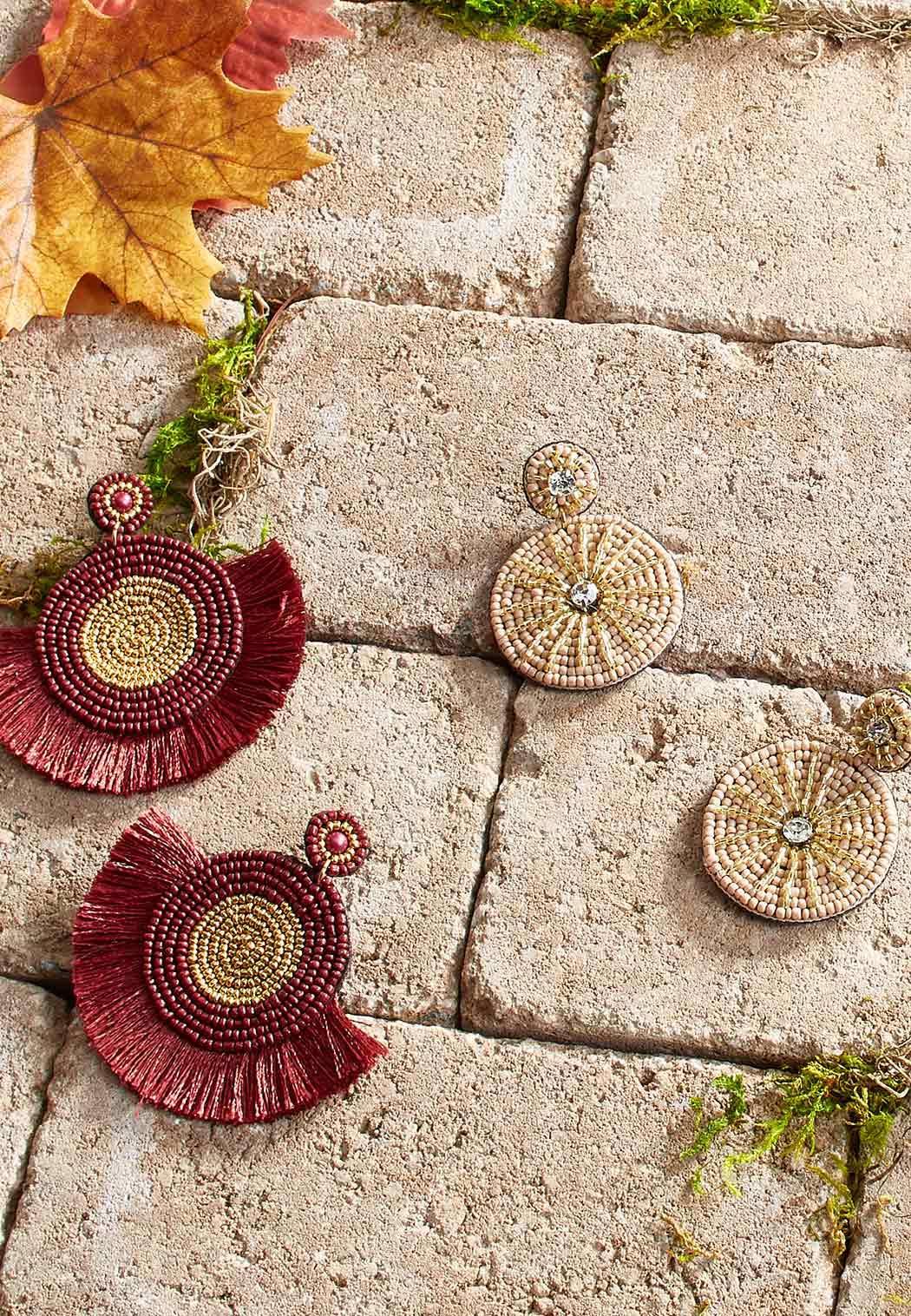 Metallic Fabric Back Earrings (Item #44044494)
