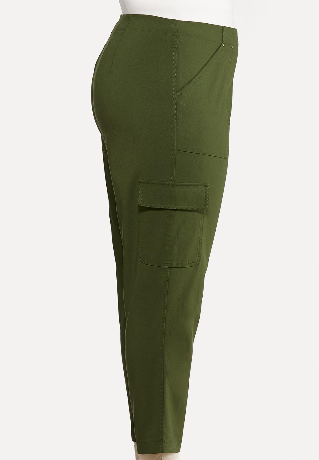 Plus Size Button Fly Utility Pants (Item #44045652)