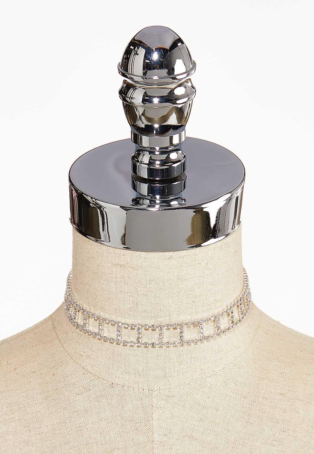 Cutout Rhinestone Choker Necklace (Item #44045822)