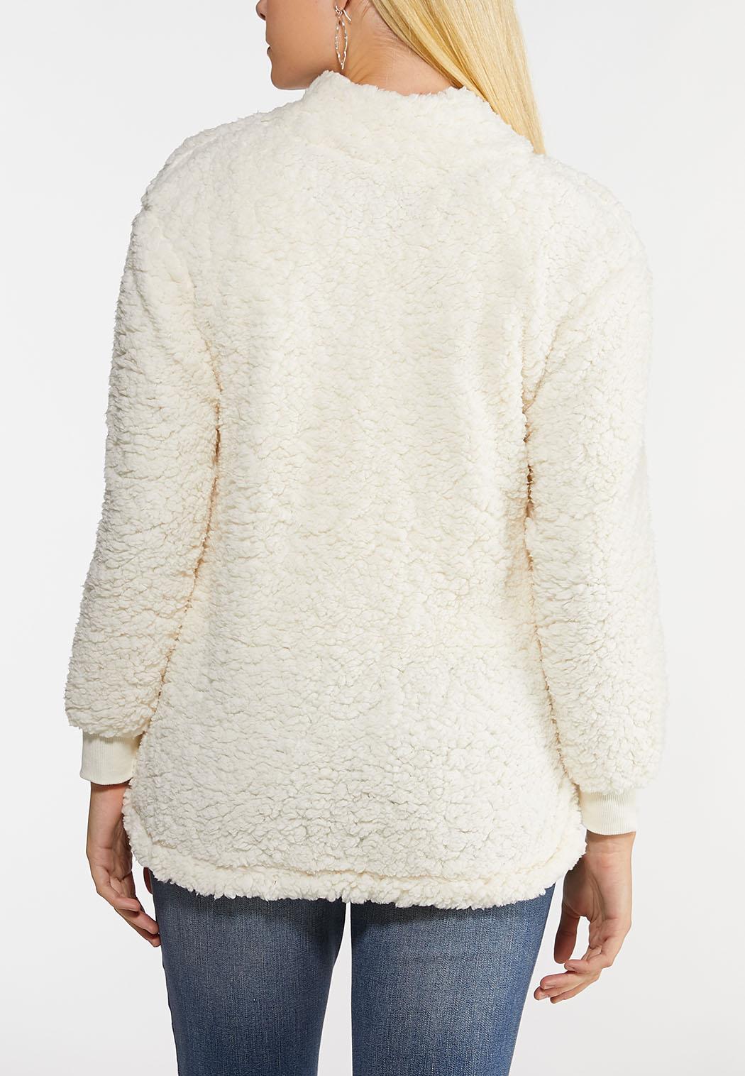 Plus Size Cozy Fleece Pullover Top (Item #44047638)
