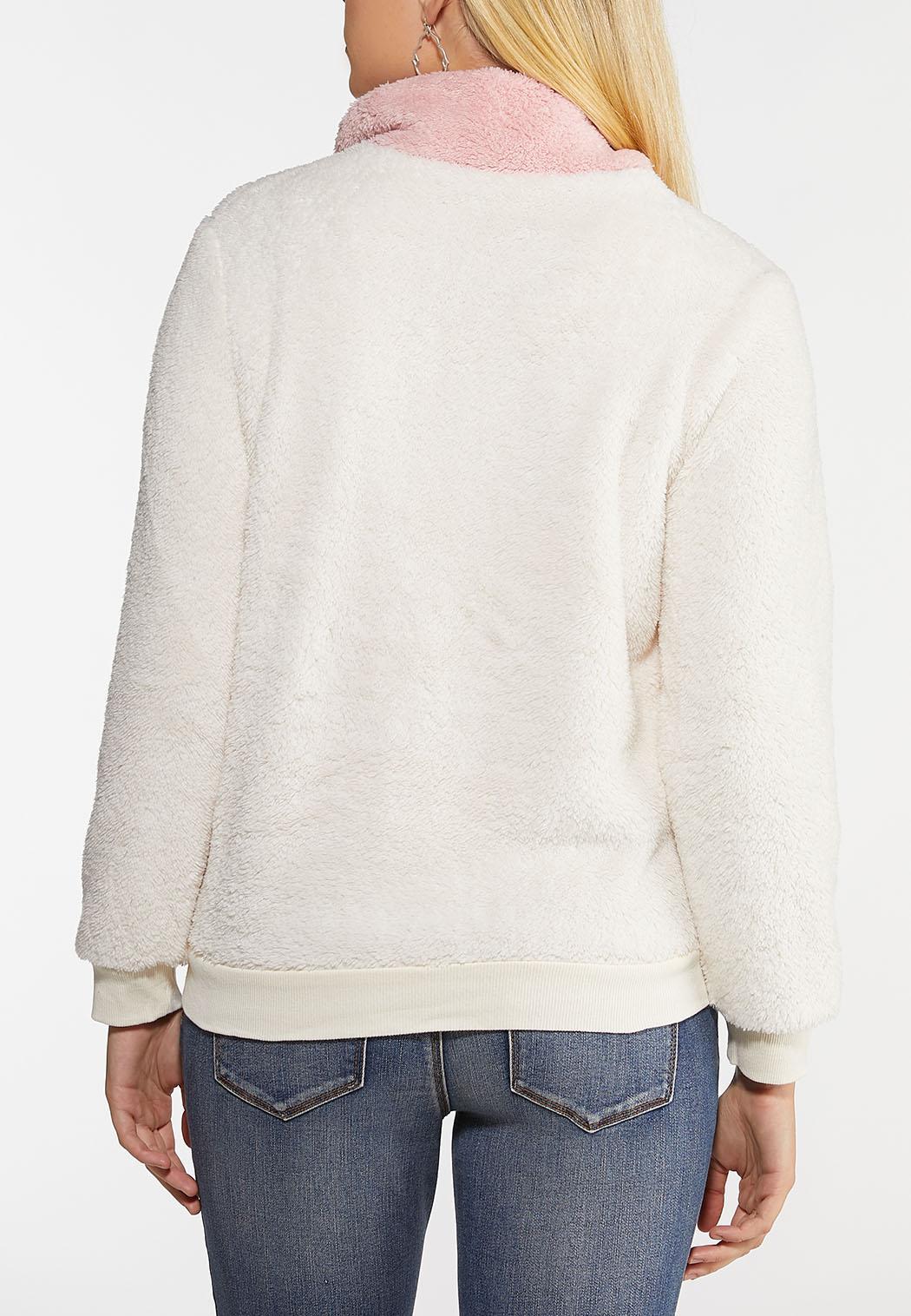 Plus Size Colorblock Zip Up Jacket (Item #44047656)
