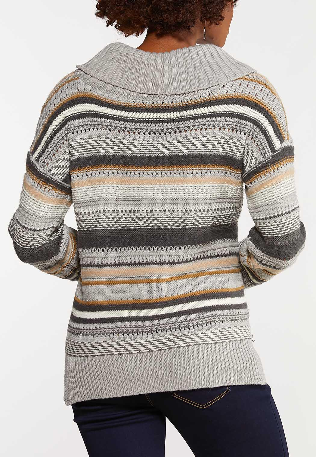 Jacquard Cowl Neck Sweater (Item #44047991)
