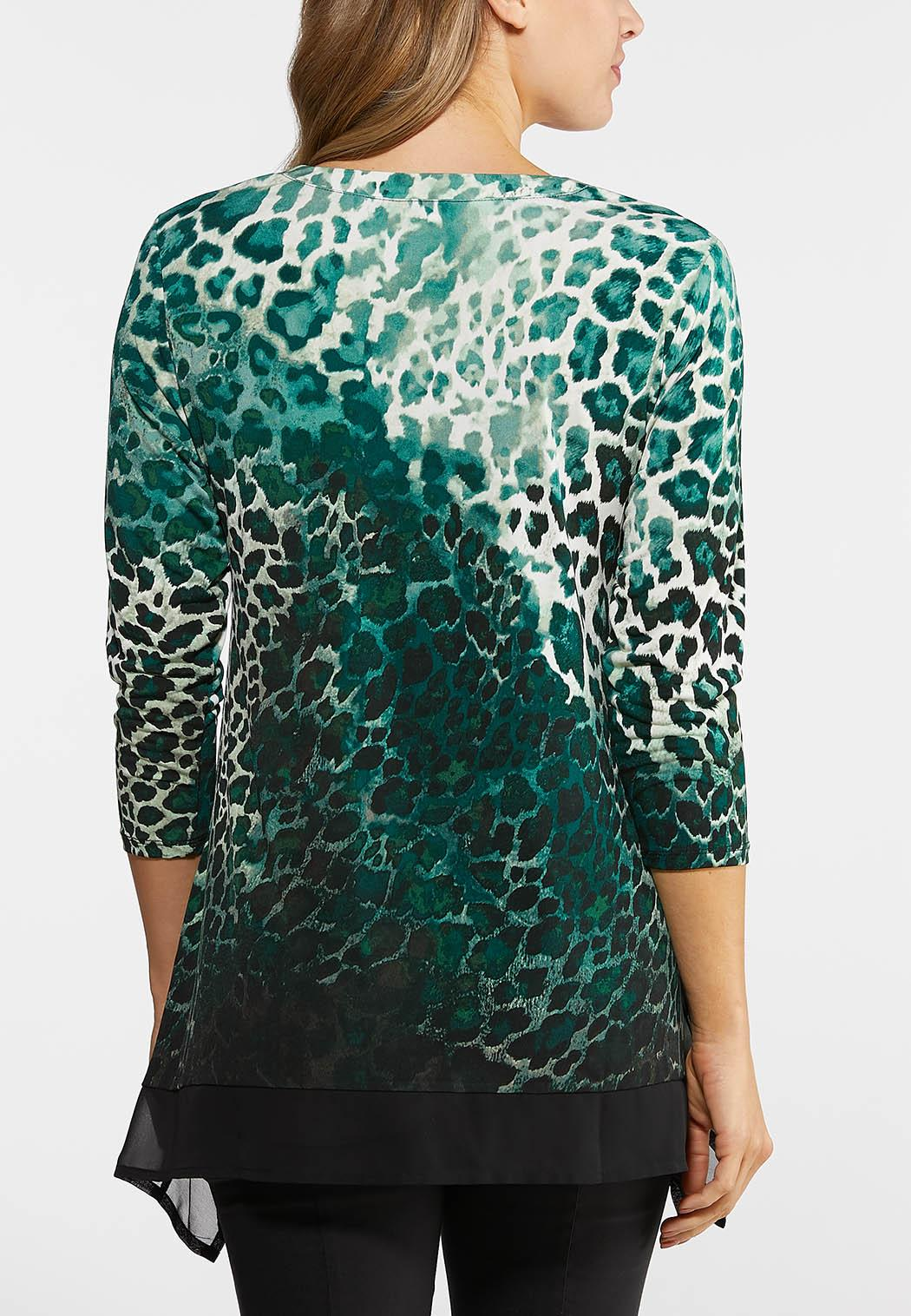 Green Leopard Print Top (Item #44048351)