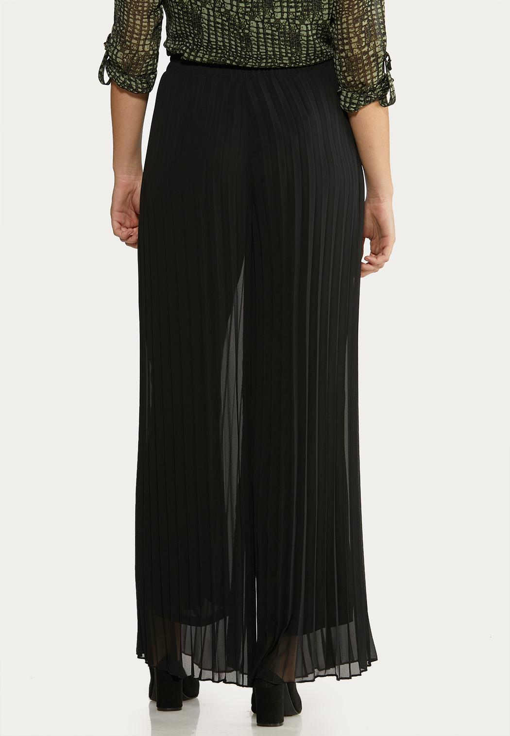 Pleated Wide Leg Pants (Item #44049872)