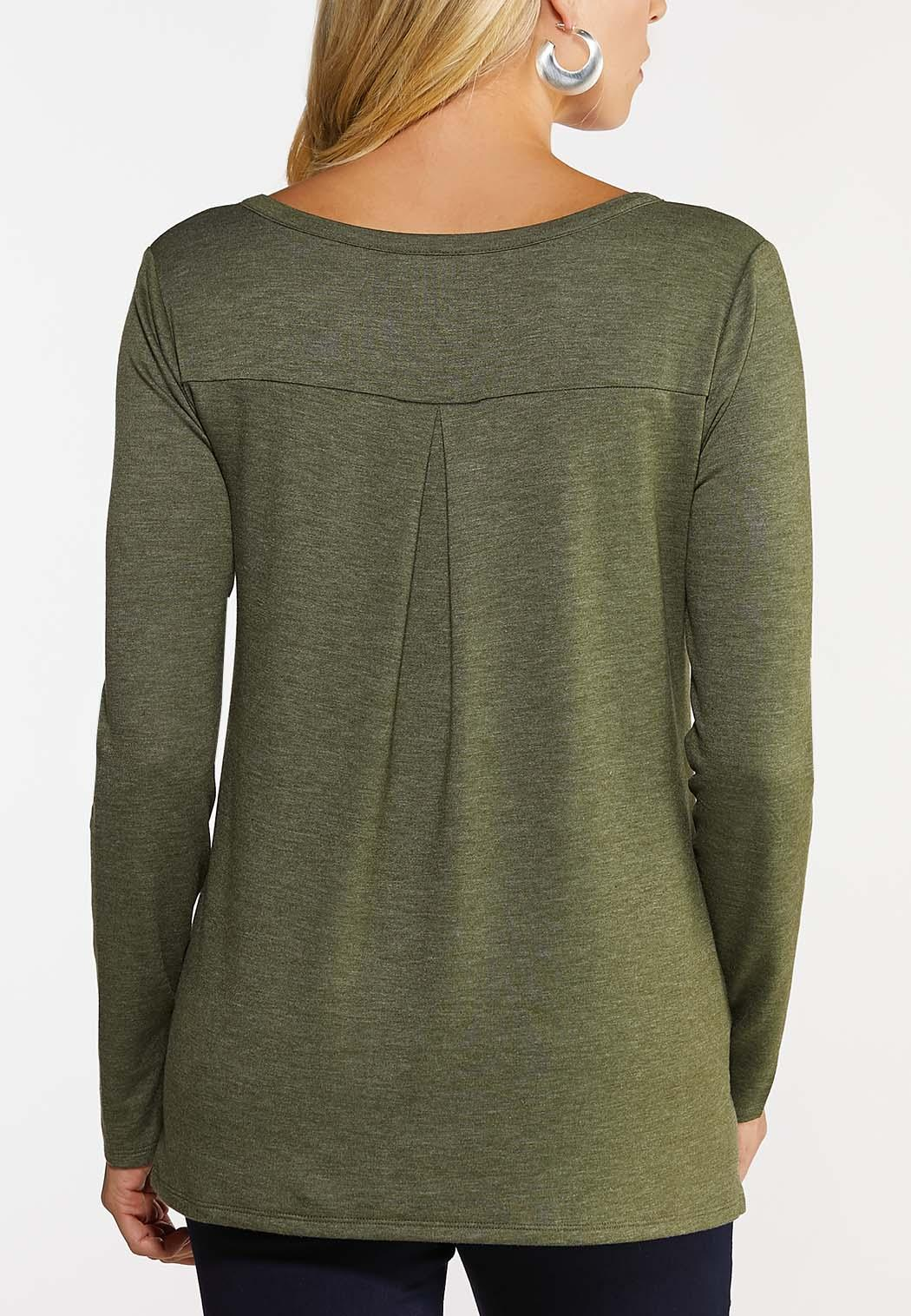 Laced Neck Utility Top (Item #44049968)