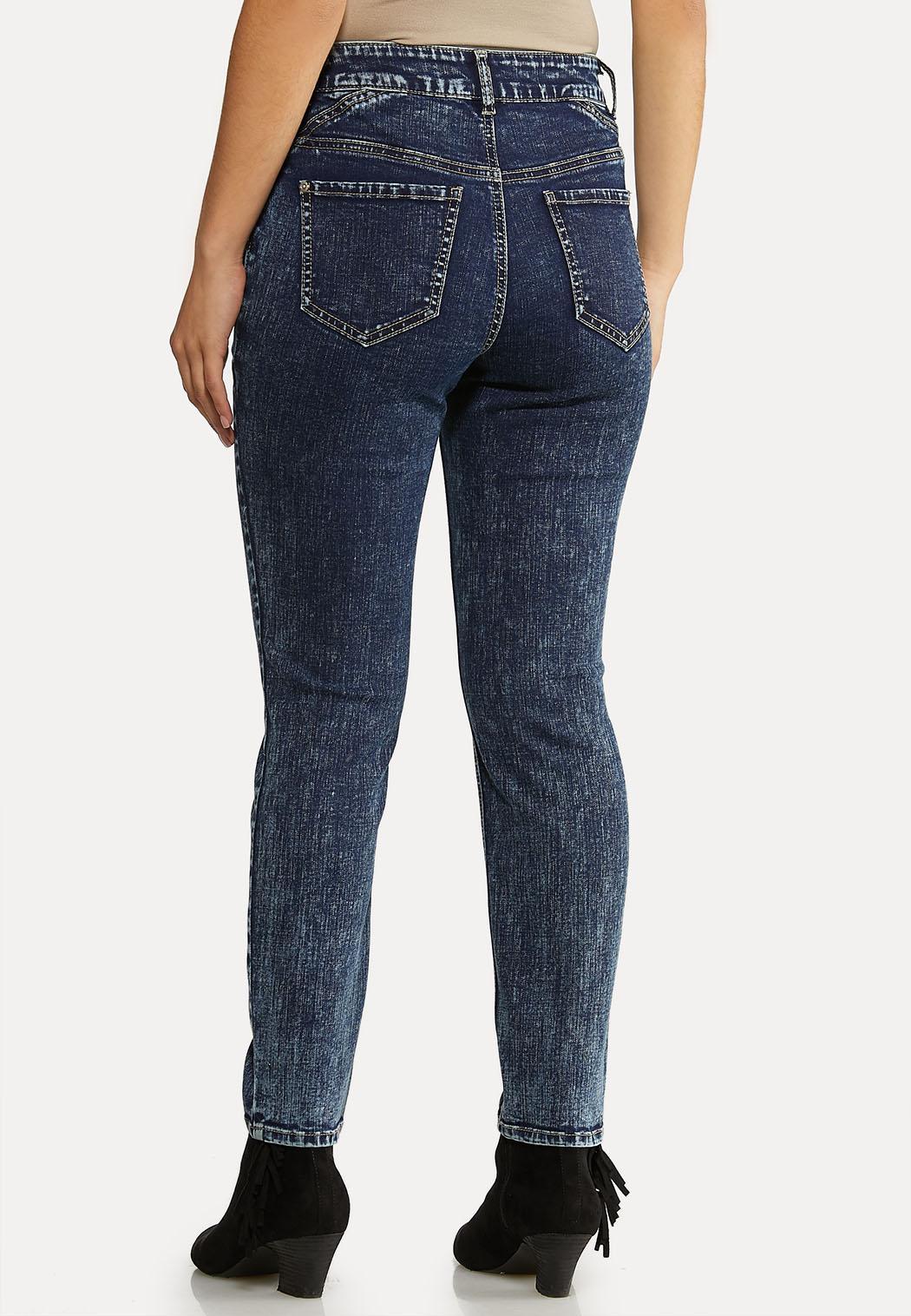 Center Seam Acid Wash Jeans (Item #44050632)
