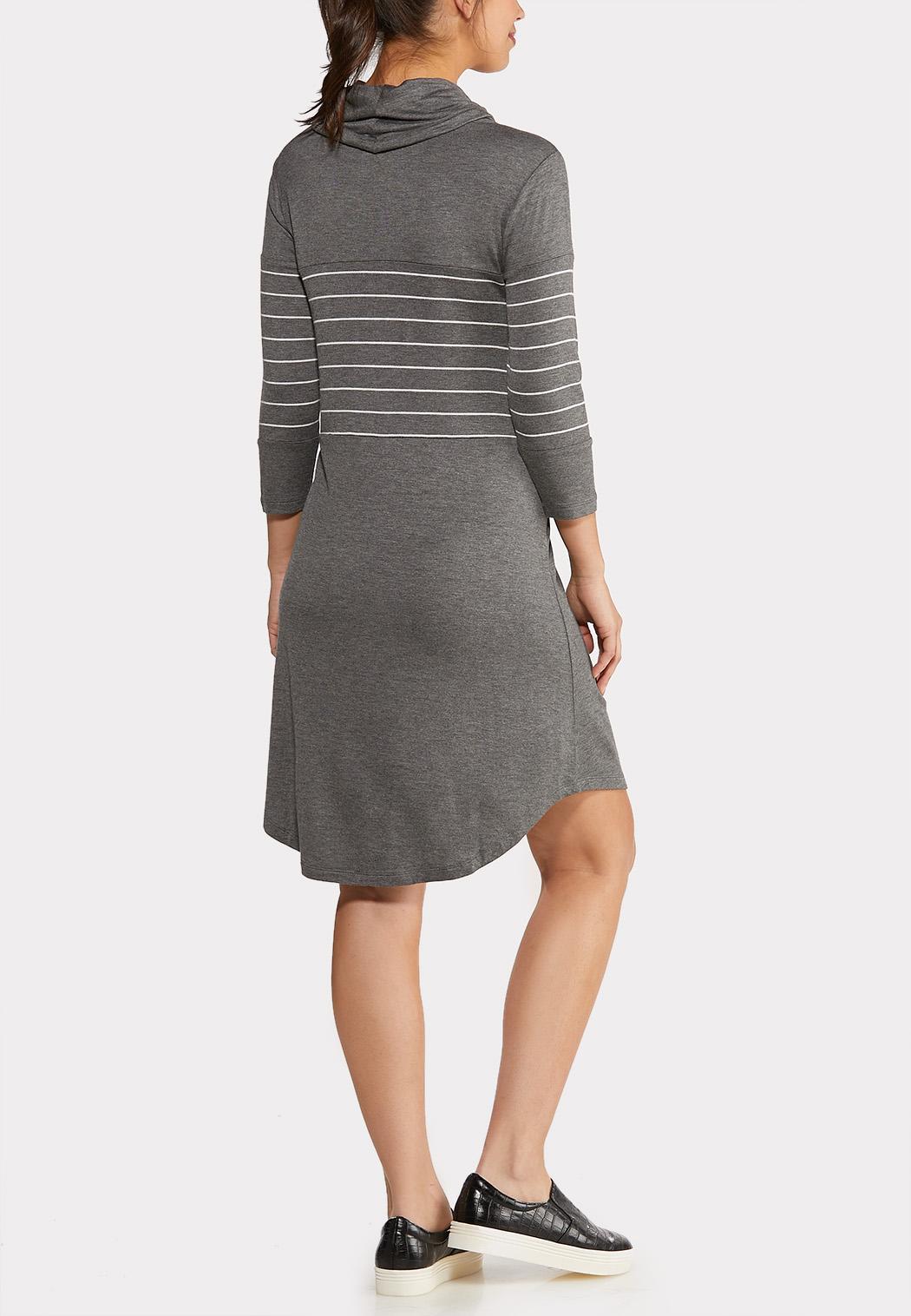 Cowl Neck Stripe Dress (Item #44050723)