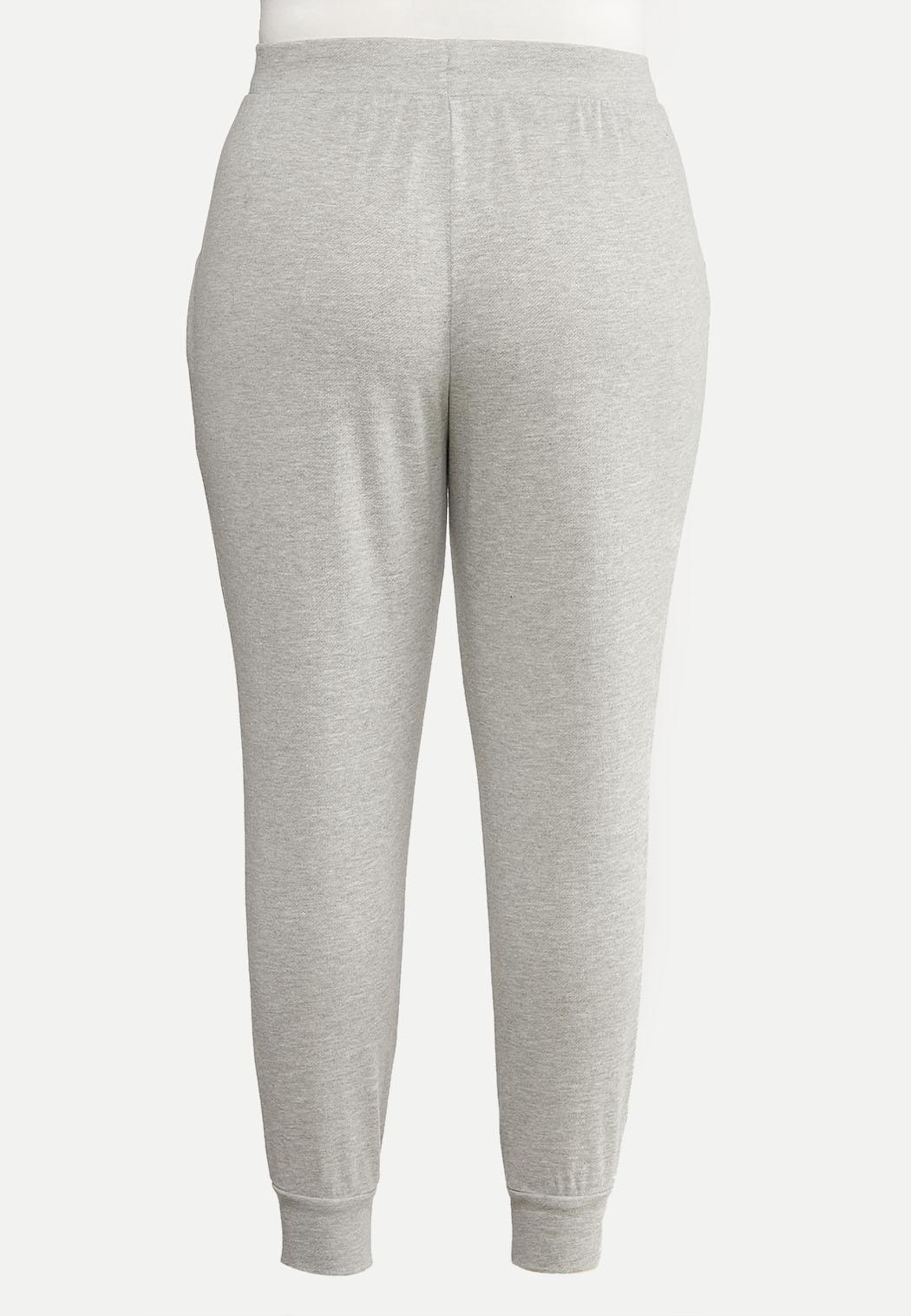 Plus Size French Terry Joggers (Item #44051010)