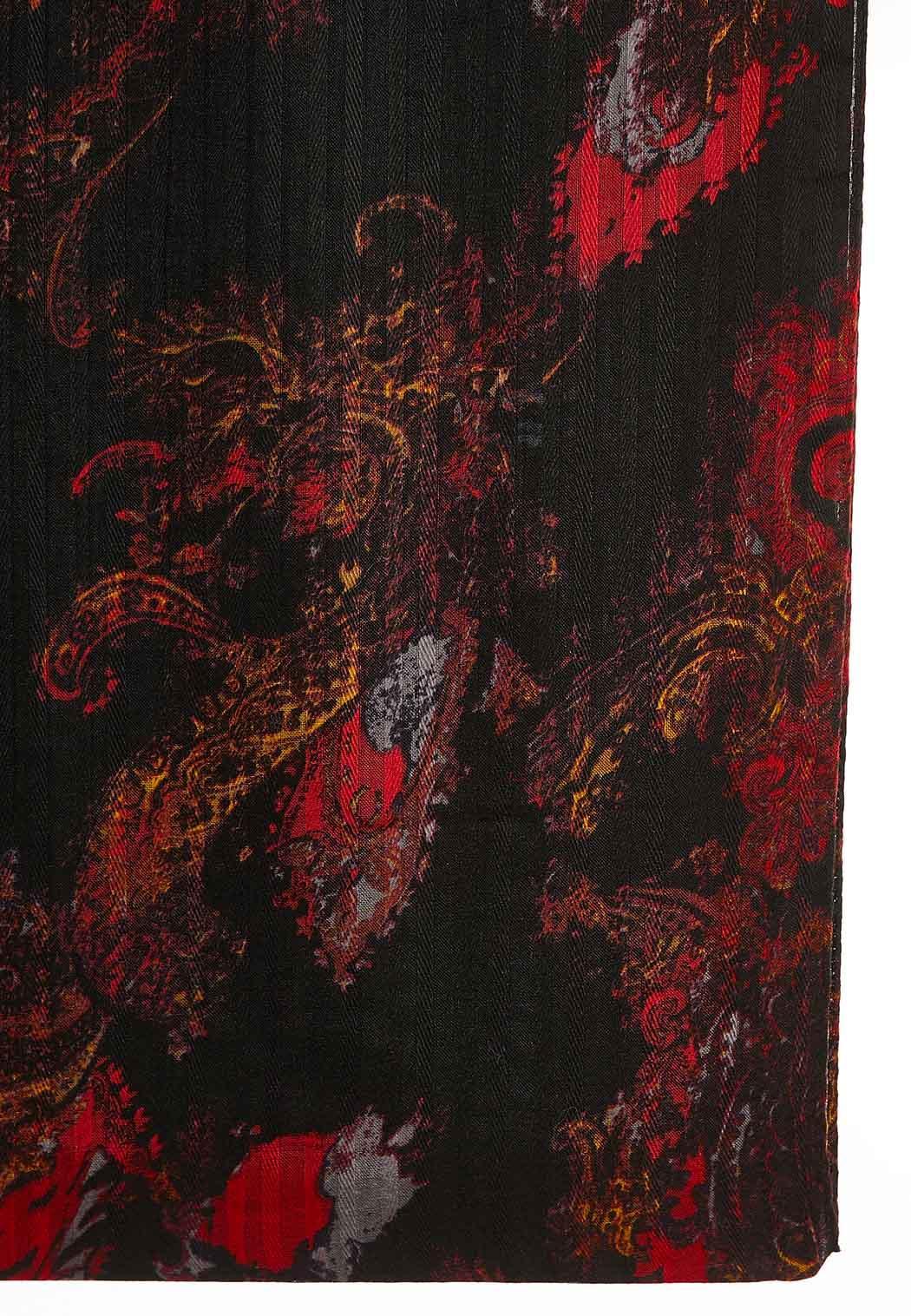 Dark Ground Paisley Infinity Scarf (Item #44051297)
