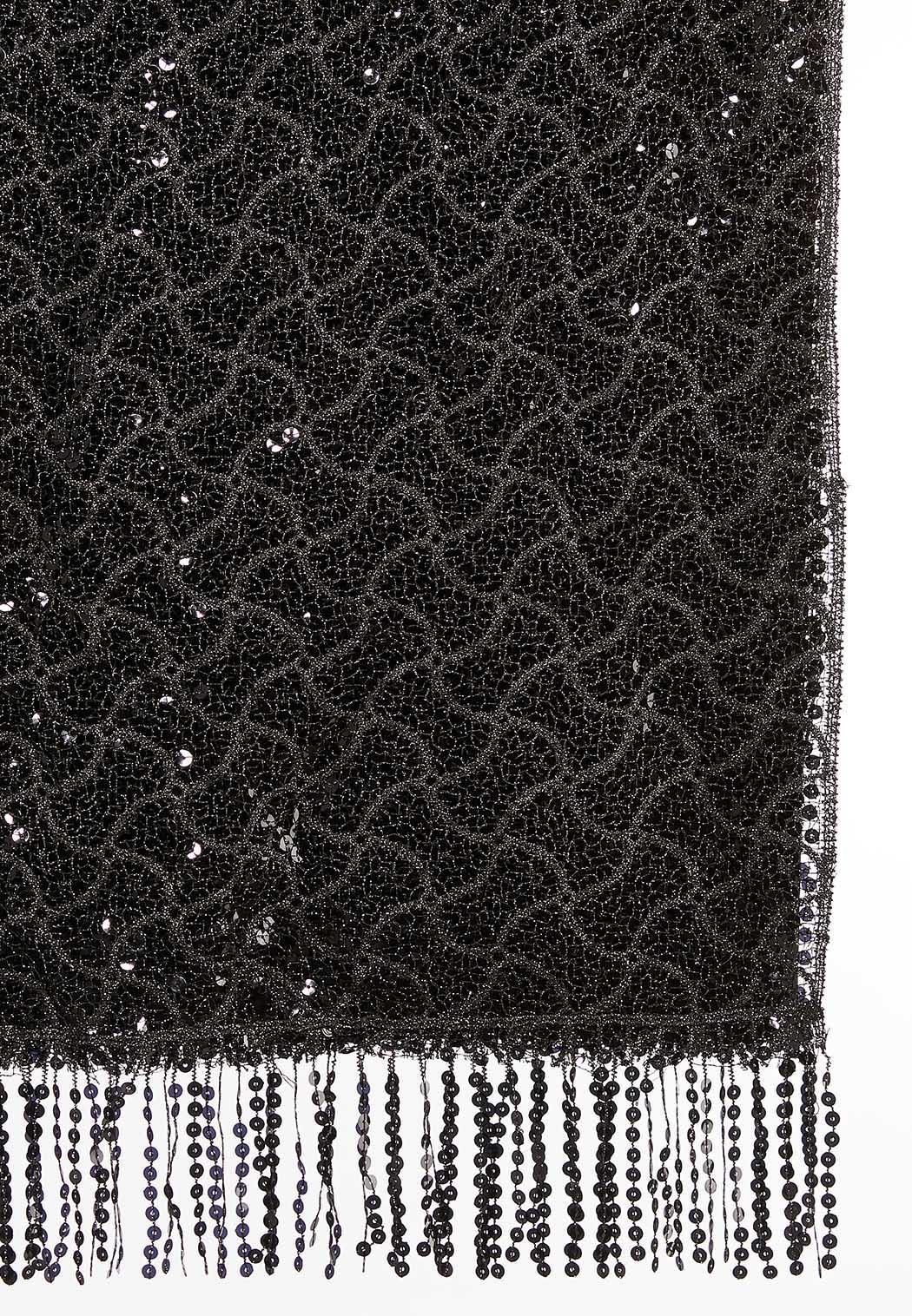 Sequin Fringe Oblong Scarf (Item #44051302)