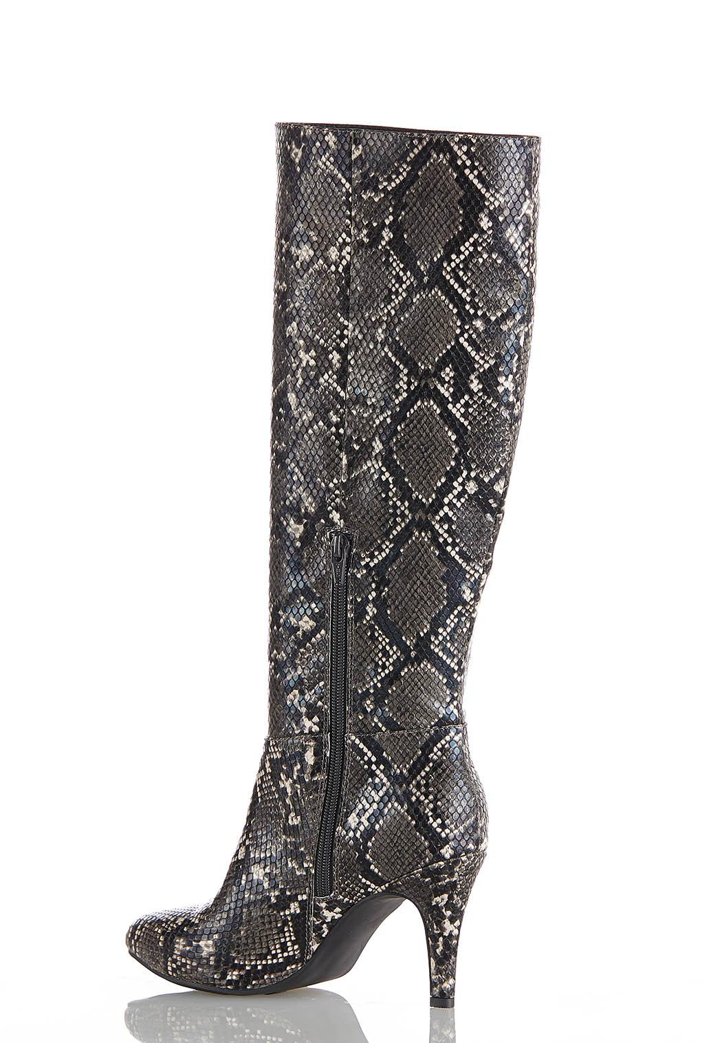 Wide Width Snakeskin Tall Boots (Item #44051657)