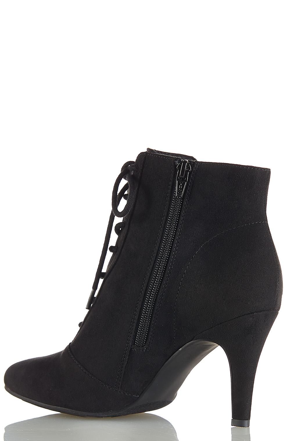 Faux Suede Lace Up Booties (Item #44051804)
