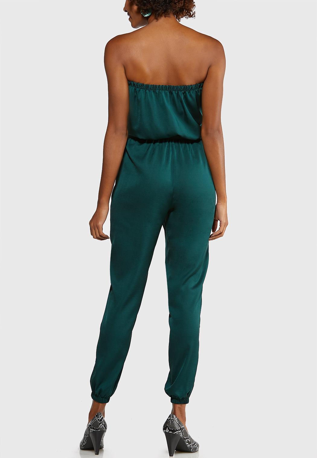 Petite Satiny Green Jumpsuit (Item #44052124)